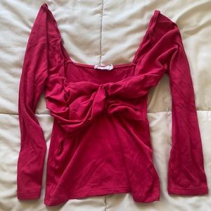 The Line by K Stevie Top in Raspberry